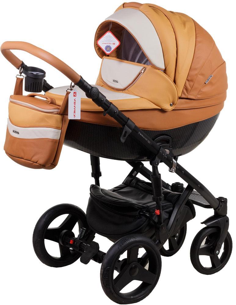 Универсальная детская коляска  2в1 Adamex Monte Carbon Deluxe D104