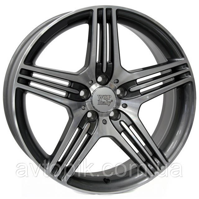 Литые диски WSP Italy Mercedes (W768) Stromboli R18 W8.5 PCD5x112 ET48 DIA66.6 (anthracite polished)