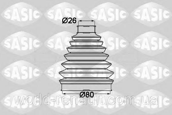 Пыльник шруса наружний (26/80мм) Renault Kangoo 2 / SASIC 1904013