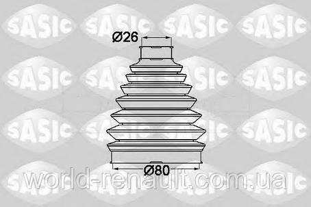 Пыльник шруса наружний (26/80мм) Renault Kangoo 2 / SASIC 1904013, фото 2