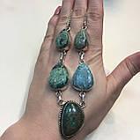 Ожерелье с камнем хризоколла в серебре ожерелье с хризоколлой., фото 2