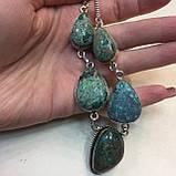 Ожерелье с камнем хризоколла в серебре ожерелье с хризоколлой., фото 4