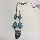 Ожерелье с камнем хризоколла в серебре ожерелье с хризоколлой., фото 6