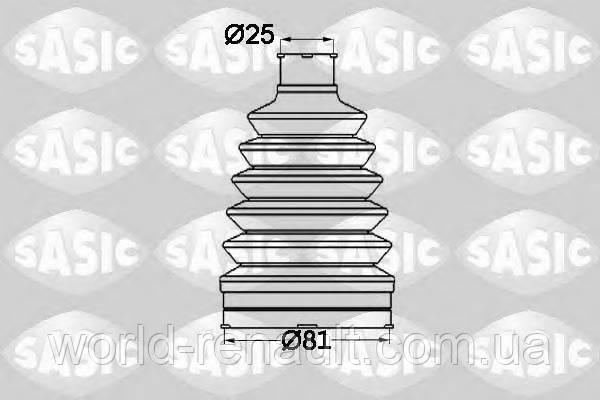 Пыльник шруса наружний (25/81мм)  Renault Kangoo 2 / SASIC 1904012