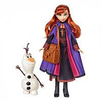 Кукла Hasbro Frozen Холодное сердце 2 Анна  с аксессуарами E5496_E6661