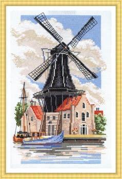 Набор для вышивки крестом Panna ПС-726 «Мельница на берегу канала»