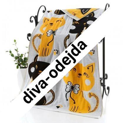 Полотенце лицевое с принтом коты.Размер:1,0 x 0,5
