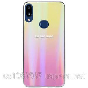 TPU+Glass чехол Gradient Aurora с лого для Samsung Galaxy A10s