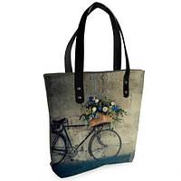 Стильная женская сумка Sophie Велосипед с цветами (SO1_16S006_BL_TSI)