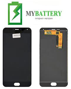 Дисплей (LCD) Meizu M2 Note (M571) с сенсором черный желтый шлейф
