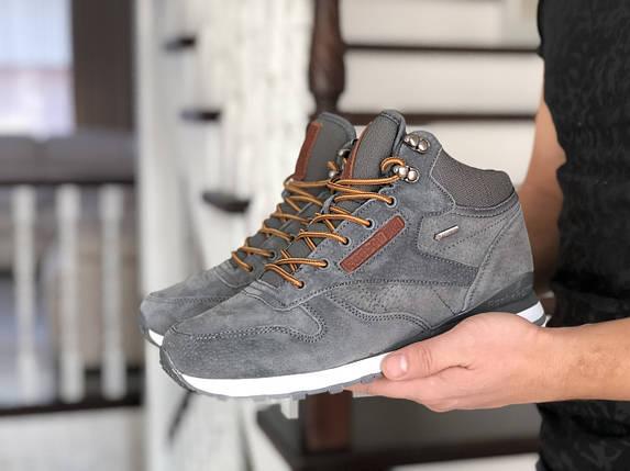 Мужские теплые кроссовки серые внутри эко мех 15\8757, фото 2