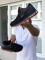 Кросівки чоловічі в стилі  Nike Air Max 2017  сірі з чорним\помаранчеві  ТОП якість