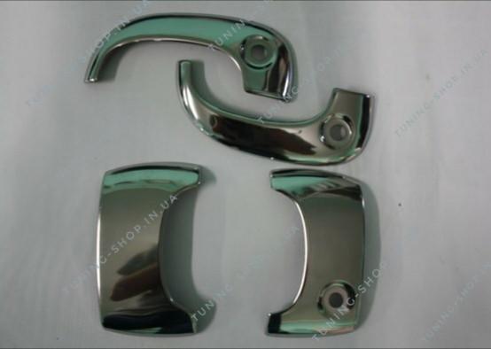 Накладки на ручки Renault Kangoo 1998-2008, турецкая сталь