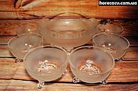 Набор салатников стеклянных Helios 7 предметов 175 мм (6310)
