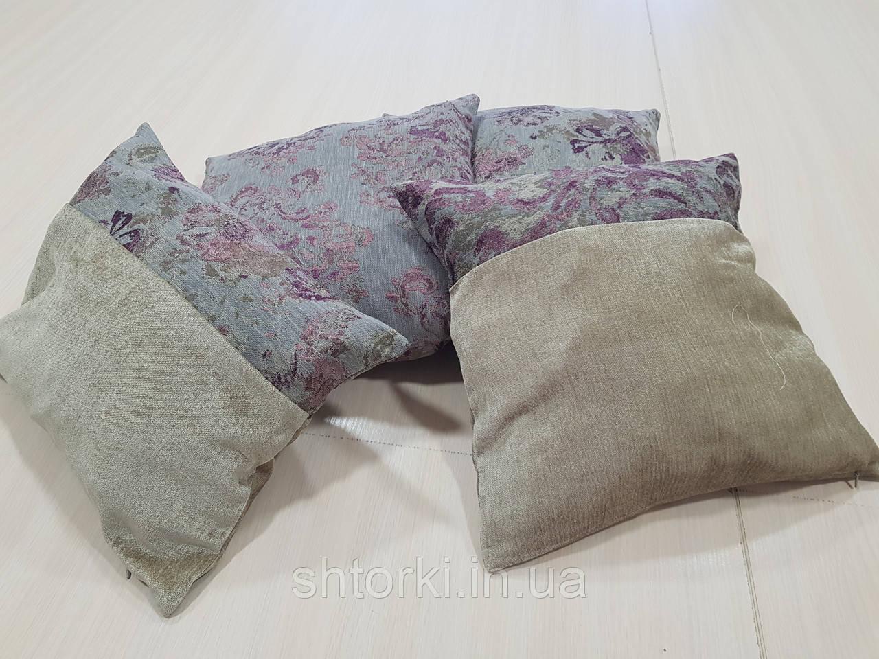 Комплект подушек Беж с сирен цветками, 4шт