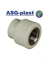Муфта ппр 20х1/2 РВ ASG-Plast (Чехія)