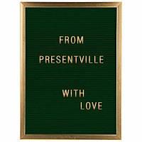 Доска декоративная с буквами, 28х38 см, зеленая (IMP_56_28х38_GREEN)