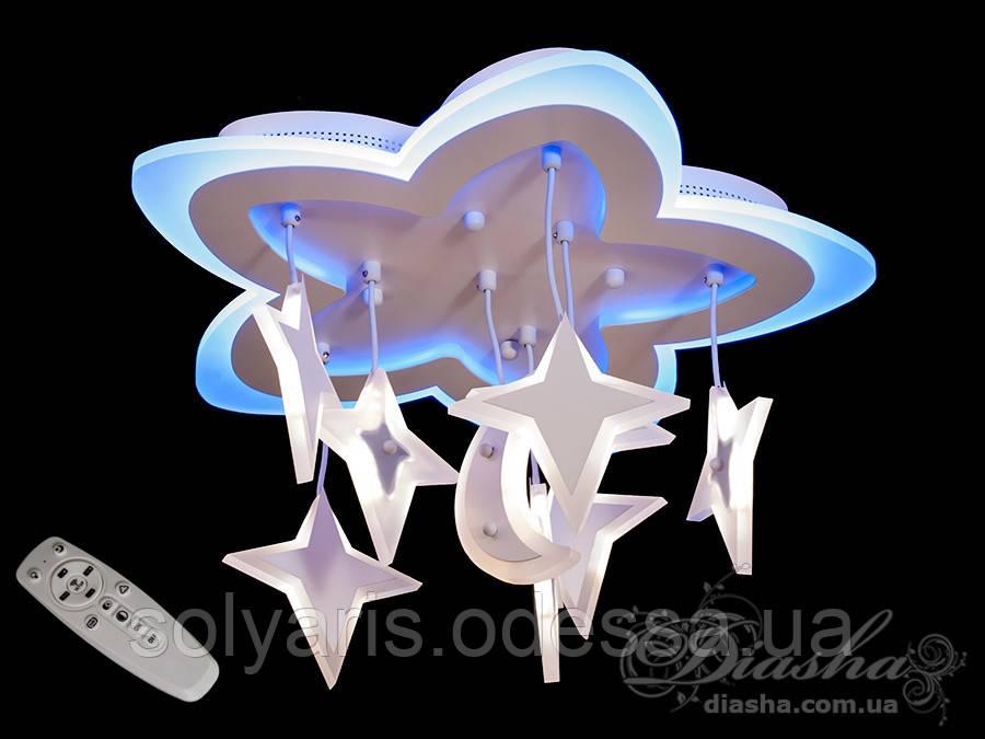 Потолочная LED-люстра с диммером и подсветкой, 80W 8161/480WH LED dimmer