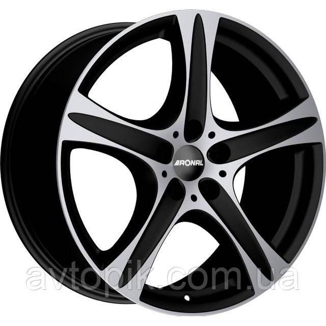 Литые диски Ronal R55 R20 W9.5 PCD5x120 ET50 DIA76 (matt black front diamond cut)
