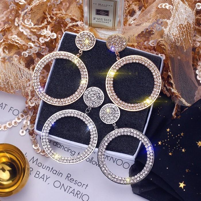 "Серьги ""Diamond Ring"", 2 цвета"