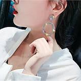 "Серьги ""Diamond Ring"", 2 цвета, фото 3"