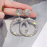 "Серьги ""Diamond Ring"", 2 цвета, фото 4"
