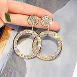 "Серьги ""Diamond Ring"", 2 цвета, фото 5"