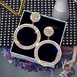 "Серьги ""Diamond Ring"", 2 цвета, фото 6"