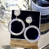 "Серьги ""Diamond Ring"", 2 цвета, фото 7"