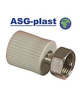 Муфта ппр  с накидной гайкой 20х3/4 ASG-Plast (Чехия)