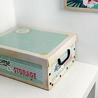Коробка для хранения с крышкой, 37х31х16 см (IMP_18_2)
