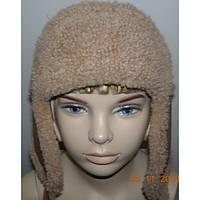 Шапка-ушанка детская коричневая из натуральной кожи