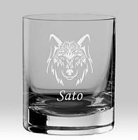 Именной стакан для виски «Волк»