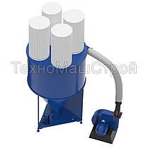 Смеситель сыпучих материалов КС-1000 с измельчителем зерна KRAFT, фото 3