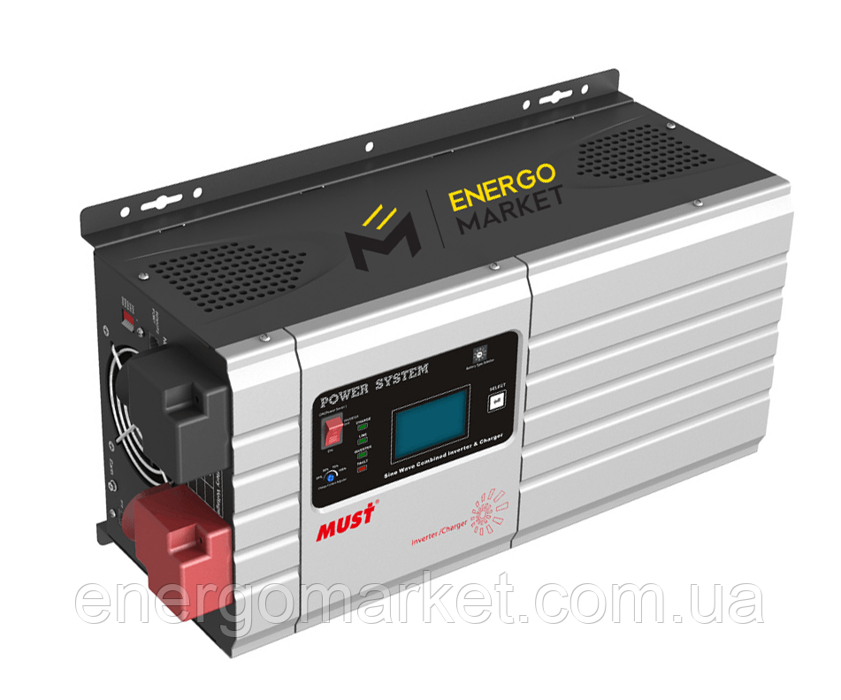 Инвертор напряжения MUST EP30-1012 PRO (1 кВт, ИБП, 12В)