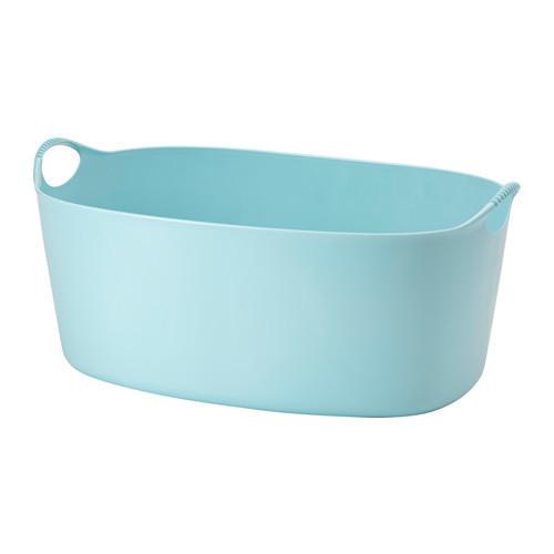 Гнучка кошик д/білизни IKEA TORKIS синій, 35л 803.392.24