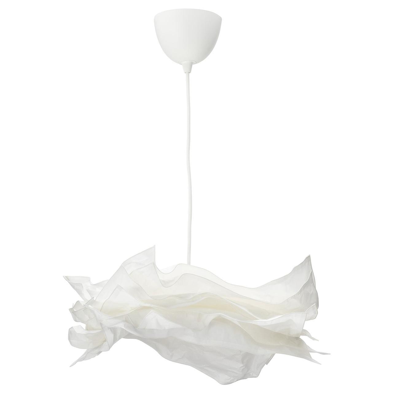 Подвесной светильник IKEA KRUSNING / SEKOND белый 192.919.28