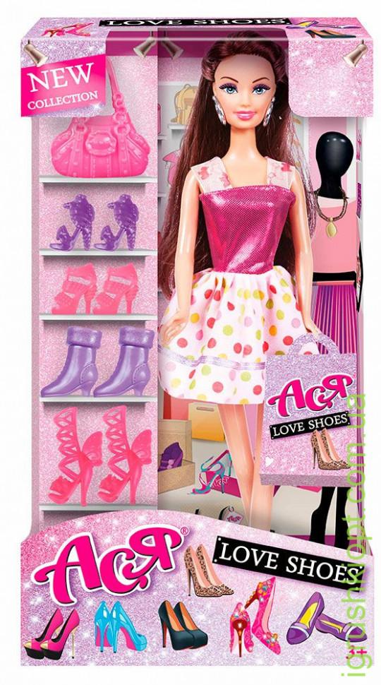 "Кукла Барби  ""Ася"" Любимые туфли' '' ( Брюнетка 28см)"