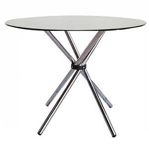 Круглый стол Тог прозрачное стекло от SDM Group, D90 см