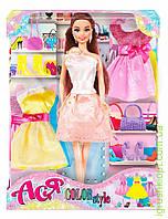 """Кукла с аксессуарами   """" Яркий в моде '' ( брюнетка 28см), фото 1"""
