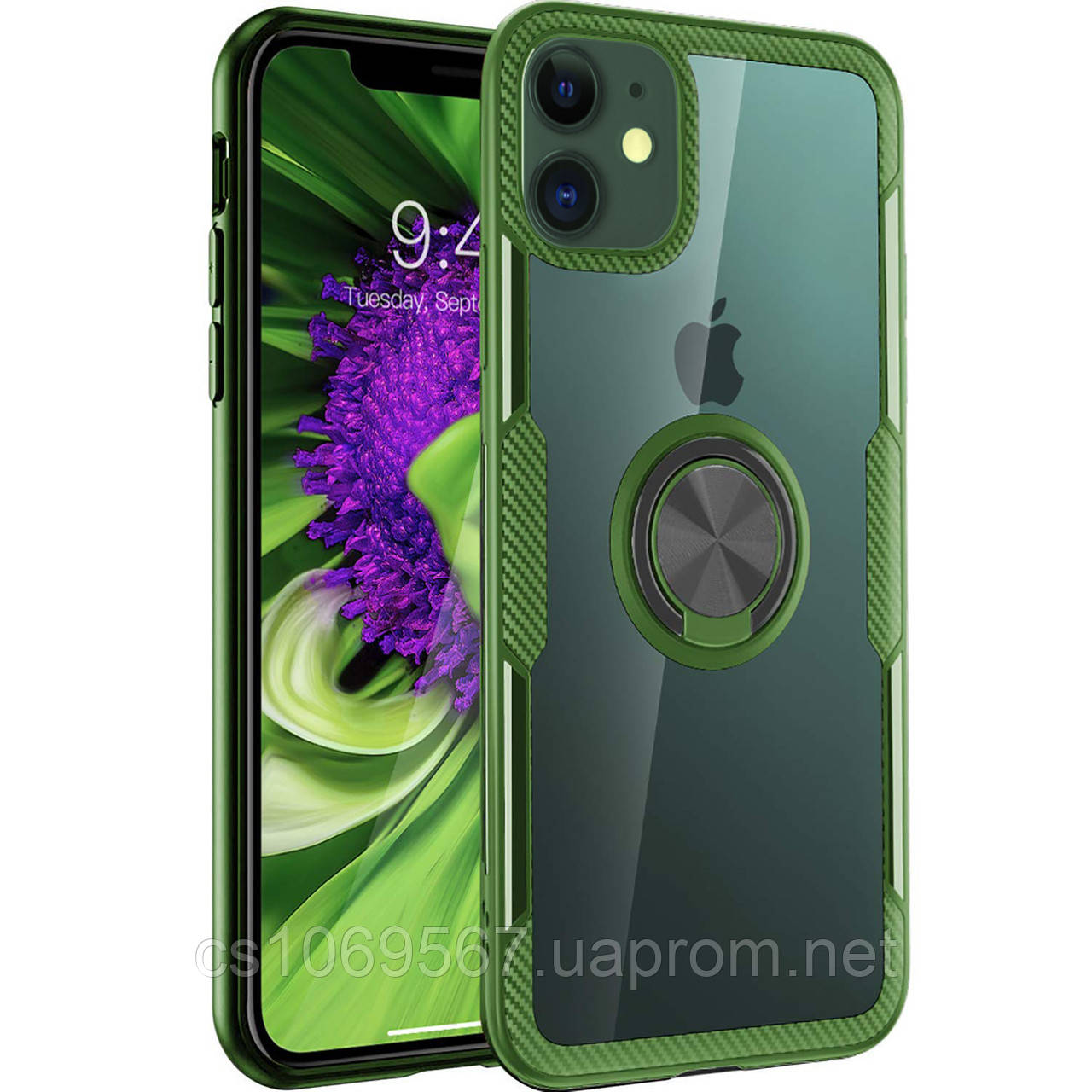 """TPU+PC чехол Deen CrystalRing под магнитный держатель для Apple iPhone 11 (6.1"""")"""