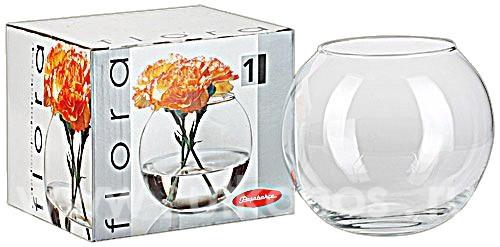 Ваза Pasabahce Flora аквариум 250мл d7 см h7,9 см стекло (43407)