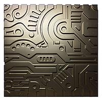 Гипсовая 3Д панель EX-MACHINA  Premium GOLD A7Studio