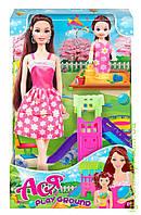 """Кукла с аксессуарами   """"Детская площадка  '' с дочкой  ( брюнетка 28см), фото 1"""