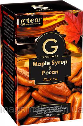 Чай чорний G'tea кленовий сироп і горіх, 1.75 Г*20 ПАК., фото 2