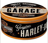"Коробка для хранения ""Round L Harley-Davidson"" Nostalgic Art (30602)"