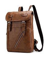Рюкзак городской Deep Person из кожи коричневый (1881)
