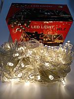 Гирлянда LED теплый cвет 100 лампочек 7,3 метра