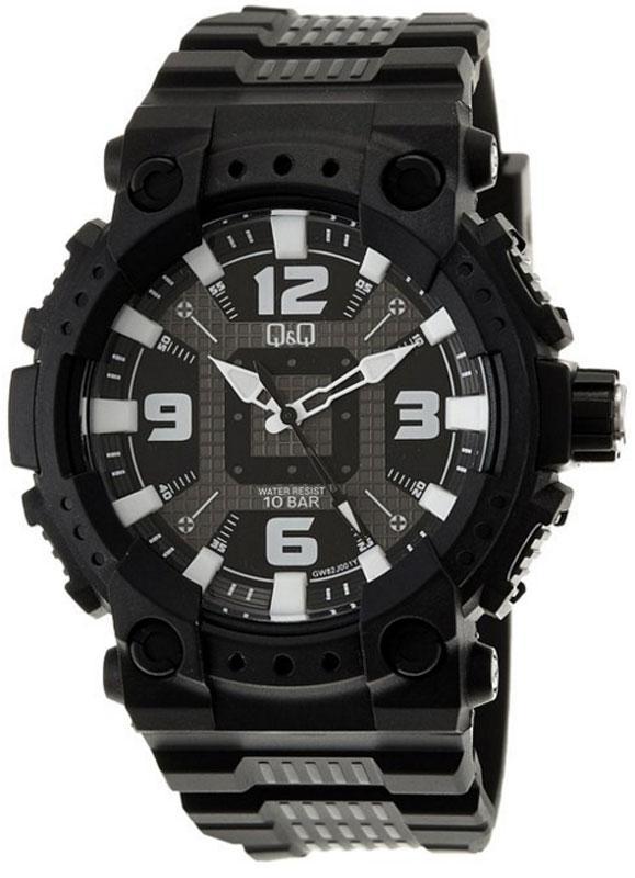Q&Q GW82J чорні чоловічі класичні годинник