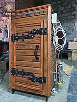 Коптильня 1300л -холодного и горячего копчения, +просушка. Нержавейка внутри, крыша плоская, фото 1